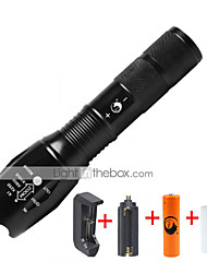 preiswerte -U'King LED Taschenlampen LED 1000 lm 5 Modus Cree XM-L T6 inklusive Batterie und Ladegerät Zoomable- einstellbarer Fokus Abblendbar