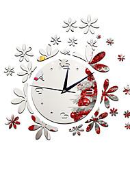 Moderno/Contemporâneo Casual Outros Florais/Botânicos Personagens Música Relógio de parede,Inovador Acrilico Interior/Exterior Relógio
