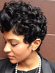 cheap -Trendy Curly Haircut Short Hairstyles Capless Human Hair Wigs For Black Woman 2017