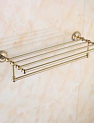 Badezimmer Regal / Poliertes Messing Zeitgenössisch