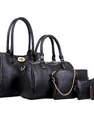 Donna Sacchetti Per tutte le stagioni PU (Poliuretano) sacchetto regola Set di borse da 5 pezzi Borchie per Casual