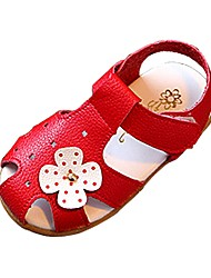 Girl's Shoes Libo New Style Hot Sale Casual / Outdoors Comfort Fashion Lovely Beach Sandals Black / White / Red / Pink
