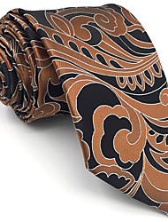 cheap -B21 Mens Ties Brown Paisley 100% Silk Business New Fashion Wedding Dress For Men