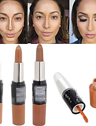 cheap -1Pcs Bronzer 3D Makeup Highlight Contour Cream Stick Dark Color Long Lasting Contouring Foundation Face Concealer Liquid Pen
