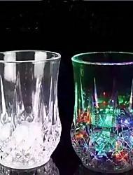7 унций привело пластиковый стаканчик 1 индуктивный радуги чашку с батареей для вина фруктового сока воды соды бар домашнего использования