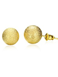 cheap -Stud Earrings Jewelry Women Daily Casual Copper Gold Plated 1pc Yellow Gold