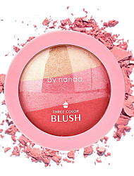 cheap -1Pcs 3 Colors By Nanda Baked Blush Makeup Cosmetic Natural Baked Blusher Powder Palette Charming Cheek Color Make Up Face Blush