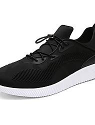 Masculino-Tênis-Conforto Soles de luz-Plataforma-Preto Vermelho Cinza-Courino-Ar-Livre Casual Para Esporte