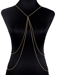 Body Jewelry Body Chain Alloy Fashion Gold Bohemia Tassels Unique Necklace/pendant Bikini Harness For Women