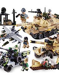 abordables -GUDI Blocs de Construction 1109pcs Tank Niveau professionnel / Cool Garçon Cadeau