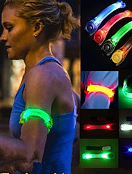 1Pcs Creative Sports Festival Parties Flashing Led Light Glow Armband Belt Multi Color Random Color