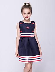robe de bal longueur de genou robe de fille de fleur - collier en plastique sans crayon avec arc (s) par mn