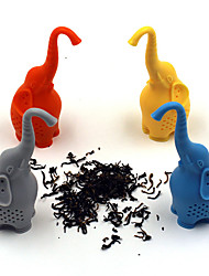 Color random Environmental Protection Material Elephant Silicone Tea Creative Cartoon Tea Filter resistance to High Temperature
