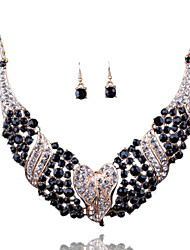 Africa And Europe Exaggerated Bride Necklace Earrings Set Elegant Style