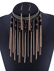 abordables -Mujer Cristal Circonita joyería de disfraz Legierung 1 Collar 1 Par de Pendientes Para Diario Regalos de boda
