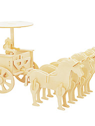 cheap -Wooden Puzzles Carriage / Coach Famous buildings Chariot Professional Level Wood Christmas Carnival Children's Day