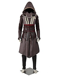 cheap -Super Heroes Assassin Cosplay Cosplay Costume Masquerade Party Costume Halloween Props Movie Cosplay Coat Top Pants Shawl Apron Belt More