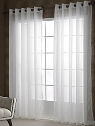 zwei Panele Window Treatment Rustikal Modern , Solide Wohnzimmer Polyester Stoff Gardinen Shades Haus Dekoration For Fenster