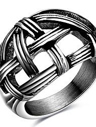 Кольца Для вечеринок Повседневные Спорт Бижутерия Титановая сталь Мужчины Массивные кольца Кольцо 1шт,6 7 8 Какна фотографии