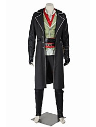 cheap -Super Heroes Cosplay Assassin Cosplay Costume Halloween Props Party Costume Masquerade Movie Cosplay Coat Top Pants Belt More Accessories