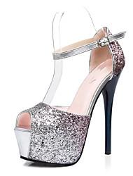 Da donna-Tacchi-Matrimonio Ufficio e lavoro Formale Casual Serata e festa-Light Up Shoes-A stiletto-PU (Poliuretano)-Viola Rosso Blu