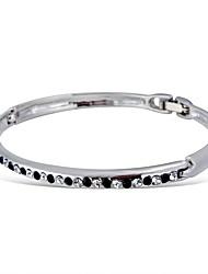 Feminino Bracelete Cristal Moda bijuterias Strass Vidro Liga Jóias Jóias Para Casamento Festa Aniversário Noivado Presentes de Natal