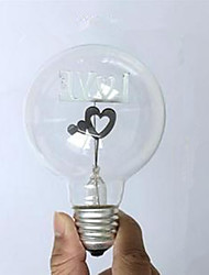 cheap -1pc 1.5W E26/E27 G80 2300 K Incandescent Vintage Edison Light Bulb AC 220V AC 220-240V V