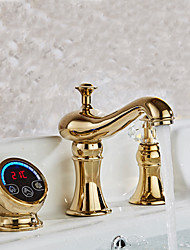Contemporary Hydropower Digital display electronic faucetTi-PVD Bathroom Sink Faucet