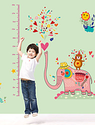 70-180Cm Height Stickers Cartoon Colorful Elephant Water Spray Height Stickers Creative Fashion Living Room Wall Stickers Wall Decals