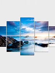 Stretched Canvas Print Landscape Leisure Style Modern,Five Panels Canvas Any Shape Print Wall Decor For Home Decoration