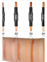 cheap -1Pcs Double-Color Contour Concealer Hide Blemish Dark Circle Cream Concealer Base Cream Contouring Camouflage Foundation