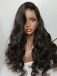 горячий необработанный 8-26 дюймов 130% плотность виргинская бразильская естественный цвет волны парик фронта шнурка человеческих волос