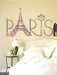 Romance Mode Paysage Stickers muraux Autocollants avion Autocollants muraux décoratifs,Papier Matériel Décoration d'intérieur Calque Mural