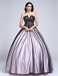 cheap -Ball Gown Strapless Floor Length Lace Tulle Prom Dress with Beading Lace by TS Couture®