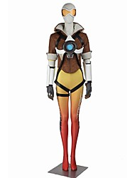 Inspired by Overwatch Rena Ryugu Video Game Cosplay Costumes Cosplay Suits Cosplay Tops/Bottoms Color Block Short Sleeves Bandage Leotard