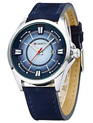 Pánské Sportovní hodinky Módní hodinky Náramkové hodinky Křemenný Pravá kůže Kapela Běžné nošení Vícebarevný