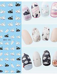 Недорогие -1 Стикер искусства ногтя Вода Передача Переводные картинки макияж Косметические Ногтевой дизайн