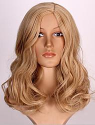 Kvinder Syntetiske parykker Lågløs Krop Bølge Blond Naturlig paryk kostume Parykker