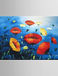 Hand Painted Oil Painting Flower Wall Art For LivingRoom Decor with Stretched Framed