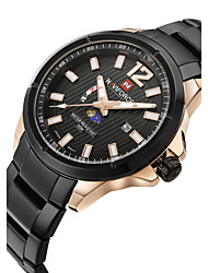 cheap -NAVIFORCE Men's Quartz Japanese Quartz Wrist Watch Calendar / date / day Water Resistant / Water Proof Moon Phase Stainless Steel Band