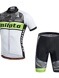 economico -Miloto Per uomo Manica corta Maglia con pantaloncini da ciclismo Bicicletta Pantaloncini /Cosciali Maglietta/Maglia Set di vestiti, Pad