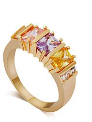 Ring Strass Aleación Acryl Strass Imitation Diamant Gold Silber Golden Verschiedene Farben Schmuck Hochzeit Party Alltag 1 Stück