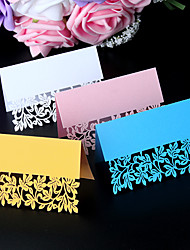 cheap -40pcs/lots love leaf Laser cut Wedding Party Table Name Lace Place Cards Lace Guest Place cards Wedding Card