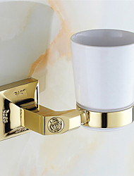 cheap -Toothbrush Holder Bathroom Gadget Neoclassical Brass Wall Mounted