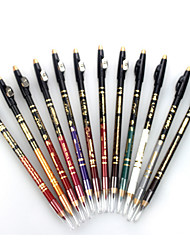 1Set/12 Pcs Professional 24 Hour Lasting Waterproof Colorful Liquid Eyeliner Pencil With Pencil Sharpener