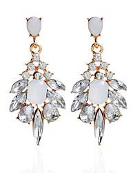 cheap -Rhinestone Drop Earrings Earrings Set Earrings Jewelry Women Wedding Party Daily Alloy Rhinestone 1 pairLight Green Black Silver Pink