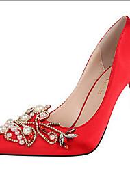 Homme-Mariage Soirée & Evénement-Noir Violet Rouge Gris-Talon Aiguille-Confort Nouveauté-Chaussures à Talons-Soie