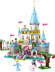 cheap -Building Blocks Block Minifigures 669pcs Princess Cinderella Castle Romantic Castle Girls' Toy Gift