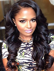 100% Real Virgin Human Hair Loose Wave Glueless Full Lace Wig With Baby Hair Fashion Style For Black Woman