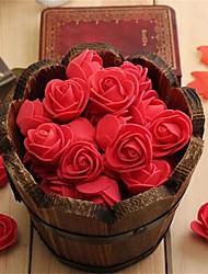 cheap -10Pcs Mini PE Foam Rose Artificial Flowers For Wedding Box Handmade Decoration DIY
